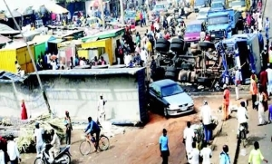Train carrying soldiers cuts trailer into two in Kaduna